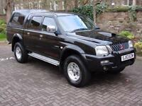 EXCELLENT 4X4! 53 REG MITSUBISHI L200 2.5 TD WARRIOR LIMITED EDITION CREWCAB