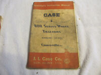J.I.Case 800 Series Tractor Operator Manual