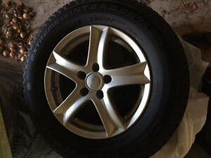 Winter Tires with Alloy Rims 225/65R16 Sarnia Sarnia Area image 1