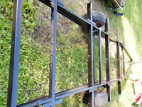 TRAVEL TRAILER FRAME-GRINDED, PRIMED AND PAINTED $950