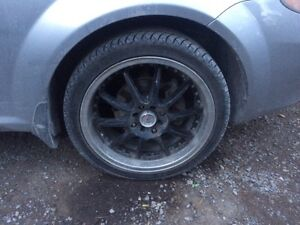 I have 4 bolt 17 inch rims and tires for sale