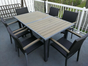 Ensemble de Table de patio Uberhaus Extensible