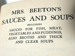 CALF'S HEAD ANYONE 1918ish Mrs BEETON'S sauces soups 1st EDITION Cambridge Kitchener Area image 10