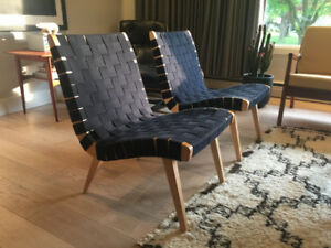 Knoll Jens Risom Model 41 Maple Lounge Chairs