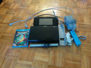 WiiU w/ 1 game, 1 remote, nunchuk and wires