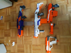 Nerf guns cheap only $30 willing to trade