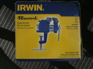 Irwin 3-inch clamp-on vise