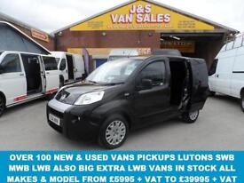 2014 14 FIAT FIORINO 1.2 16V MULTIJET SX IN PANTHER BLACK (( NO VAT TO PAY )) DI