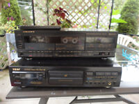 cd player and duel cassette Player