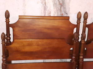 Antique Pineapple Twin Bed Frames  $200