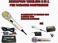 Kit Di 3 Microfoni Wireless Kek At 309 2in1 Per Karaoke Canto Conferenze Musica -  - ebay.it