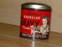 Boite Vintage en métal Horne's Gravy, Toronto, Canada