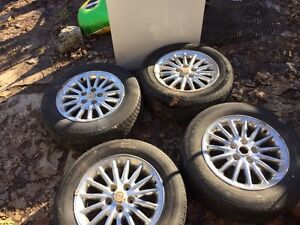 Rims and tires off of chrysler 300 m