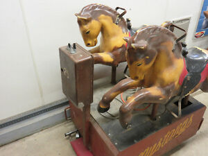 """Vintage Mustangs""  twin pony coin operated  kiddie ride Windsor Region Ontario image 2"