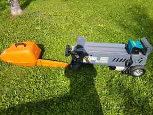 Yard works 6.5 ton log splitter. MS 250 stihl chain saw