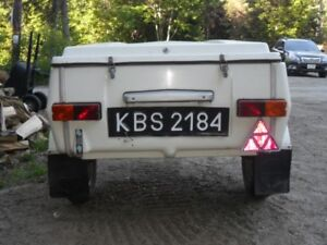 3x4 Polish trailer for sale made in Europe very rare. 17/8 ball.