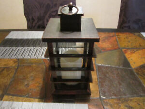 SMALL PLASTIC LANTERN STYLE FLAMELESS CANDLE HOLDER