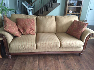 For sale matching couch and love seat with cushions.