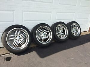 Set of Rims and Performance Tires