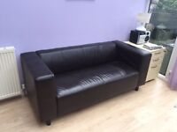 Leather sofa 3 seater X 2