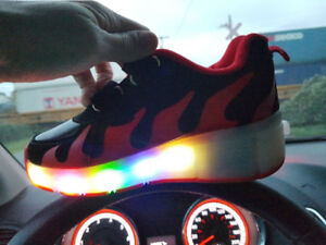 Girls light up wheely shoes