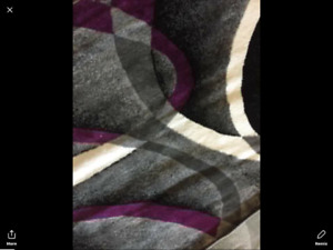 Area rug 8x5 and matching runner 2.5 X 5 ft