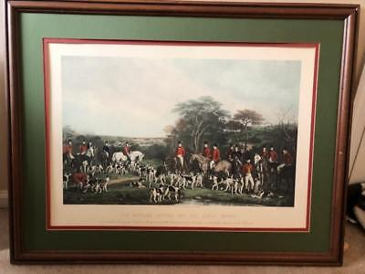 Engraving by Frederick Bromley - SIR RICHARD SUTTON AND THE QUORN HOUNDS