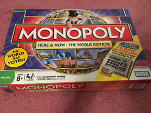 Like new monopoly electronic world edition $20 Pokémon disney