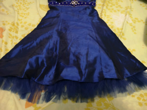 XS / S Royal Blue Strapless Dress