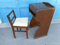 Vintage Telephone Table and Chair