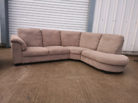 Brown fabric Corner sofa +2 seater sofa couch suite 🚚🚚