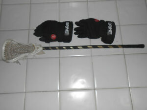 Lacrosse Gloves and Lacrosse Stick