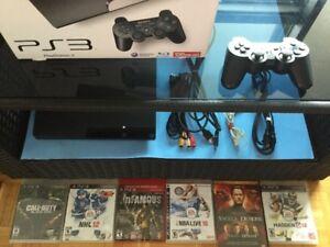 PS3 Slim de 120gig avec jeux et DVD - 130$