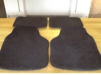 Corsa black car carpet mats (4)