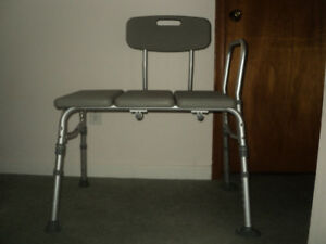 Shower bath chair adjustable height. Light weight.