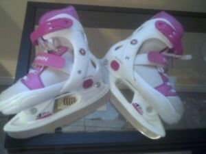Girls  ice skates used a couple times multi   fitt size 12 -2