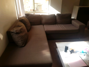 Corner sofa l shape lounge