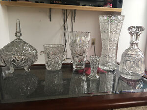 Antique crystal glass