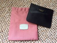 Black radley London change purse and pink dust cover new.