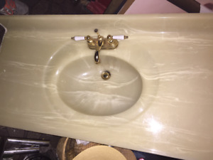 """48"""" Marble vanity top with taps"""