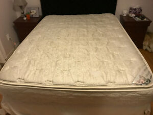 Queen Bed Mattress, Box Spring, Frame, Headboard, New Sheets