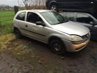 1.0 3 cylinder Corsa all parts