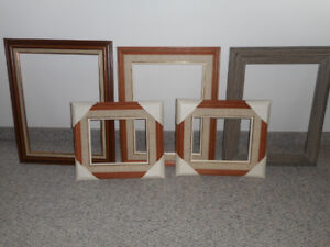 6 wooden picture frames NEVER used