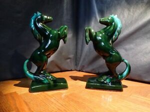 Vintage Blue Mountain Pottery Book Ends