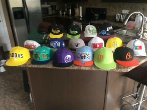 Snap Backs Sport Caps Hats etc. mostly from Lids.
