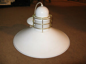 White and Brass Accent Hanging Lamp Edmonton Edmonton Area image 1