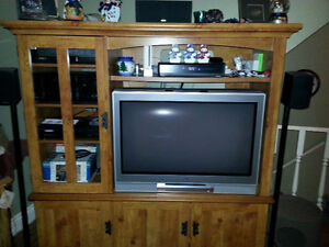 "34"" Toshiba and TV Cabinet"