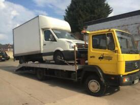 Mercedes 817 lk900 814 Aluminium recovery truck 7.5 ton slide away long ramps