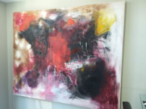 Large Original painting, oil on canvas 150x185 cm ( 58x72 in)