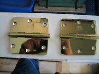 Emtek Polished Brass hinges